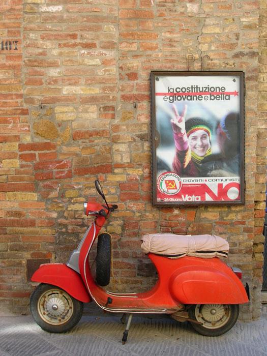 Classic Italian moped