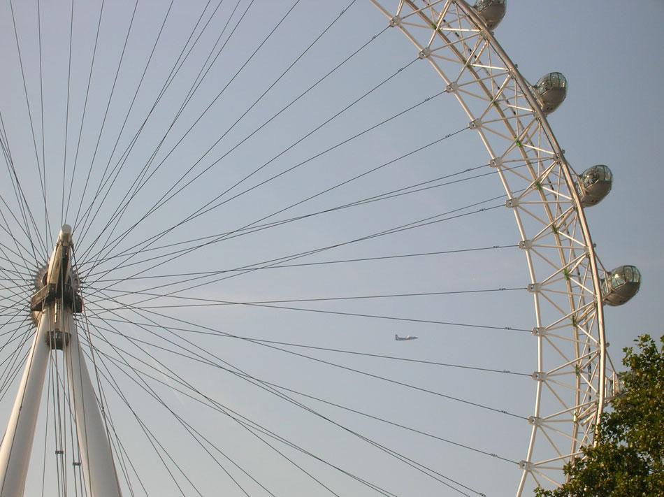 Flying through the London Eye