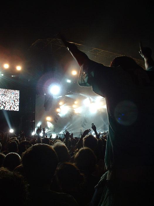 Rocking to Coldplay at Crystal Palace